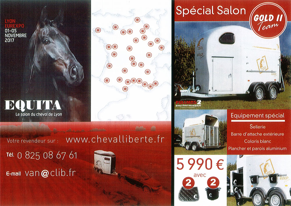 Offres salon equita 2017 cheval libert vans alain for Salon du cheval lyon 2017